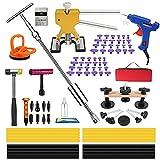 89pcs Car Dent Repair Tools, Auto Body Dent Puller Paintless Dent Repair Kit, Paintless Auto Dent Removal Tools, Paintless Car Dent Removal Kit, with Tape Down Tools for Car Dent Fix Dent Puller