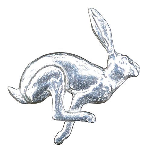 Hare Brooch, March Hare Brooch, Hare Jewelry, Hare Jewellery, Handmade, by, William Sturt, in, Fine Pewter