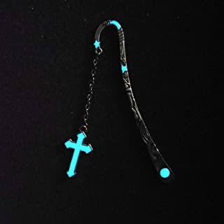 Retro Glow in The Dark Reading Metal Alloy Bookmark Long Chain Luminous Book Mark Holiday Gifts