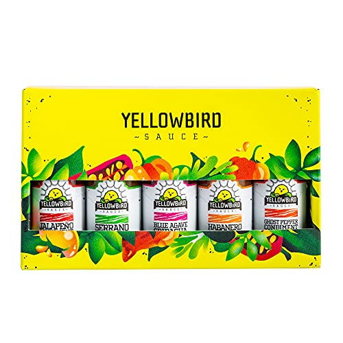 Hot Sauce Variety Pack by Yellowbird | Plant-Based, Gluten Free, Non-GMO | Homegrown in Austin | 2.2 oz (5-Pack)