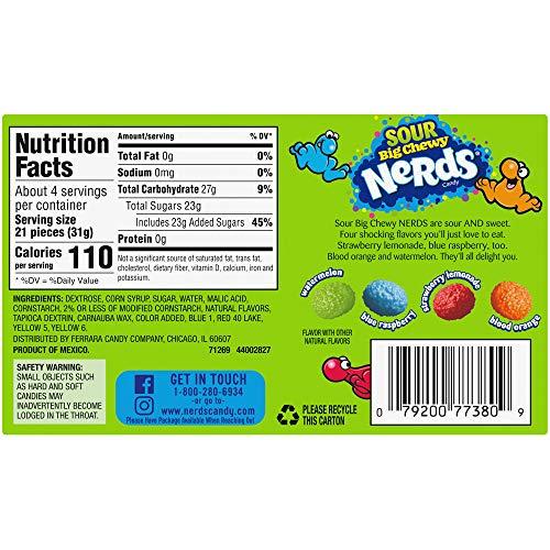 Nerds Big Chewy Sour Candyビデオボックス、4.25オンス