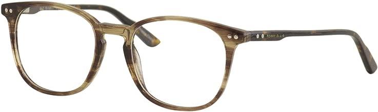 Perry Ellis Men's Eyeglasses PE416 PE/416 2-Horn Full Rim Optical Frame 51mm