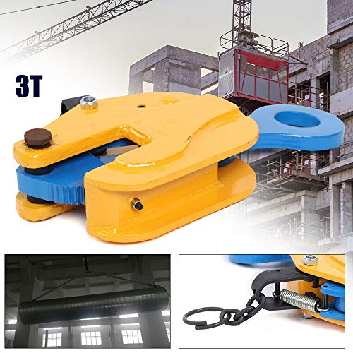 DONNGYZ Industrial Lifting Clamp 3 Tons 0-35mm 6600Lbs Industrial Vertical Plate Lifting Clamp Stable 180℃ Rotation Open 0 to 3 for Heavy Lifting of Steel Plates and Steel Structures(US Stock)