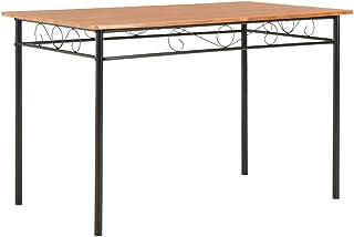 Festnight Table de Salle à Manger de Style Industriel Table de Cuisine Marron 120 x 70 x 75 cm MDF