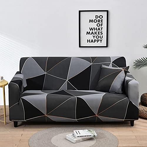 WXQY Fundas de Tela Escocesa elásticas Antideslizantes para sofá Funda de sofá para Mascotas Esquina en Forma de L Funda de sofá Antideslizante A27 2 plazas
