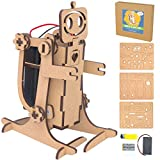 Walk-a-Lot Bot - DIY Wood Robot Kit - Motorized Engineering Toy for Kids and Adults Made from Laser Cut Wood, Ages 12+