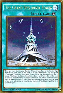 YU-GI-OH! - The Grand Spellbook Tower (PGL2-EN057) - Premium Gold: Return of The Bling - 1st Edition - Gold Rare