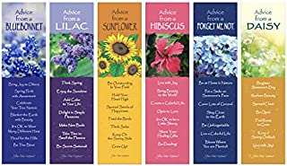 Advice from Nature 6 Bookmark Bouquet Mothers Day Set - Bluebonnet, Daisy, Lilac, Sunflower, Forget Me Not, Hibiscus - Mad...