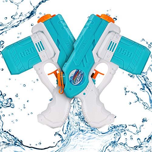 Water Gun Kids Water Pistol - Kids Toys Water Guns Powerful Long Distance, 30ft Range Water Pistols Squirt Guns Blaster Toy fit Two Kids Play, 2 Packs Fun Swimming Pool/Garden/Beach/Outdoor Toys(blue)