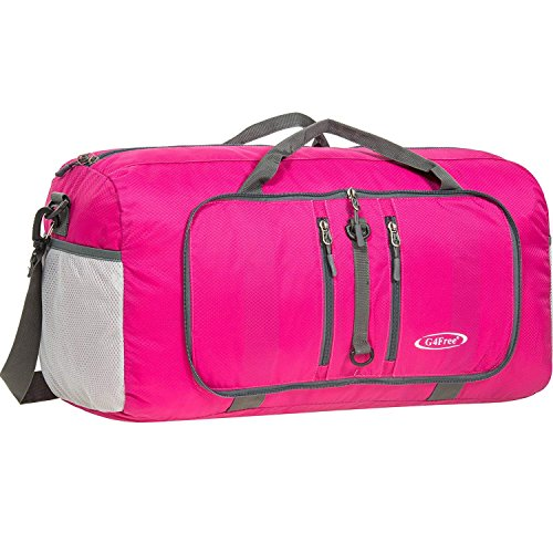 G4Free 22' Duffle Bag Foldable Travel Bag 40L Sports Duffel Gym Bag Carry On Luggage Tote Bag Overnight Weekender Bag