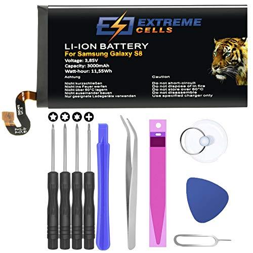 Extremecells Akku für Samsung Galaxy S8 Batterie SM-G950U1 SM-G950W Accu EB-BG950ABE GH43-04731A