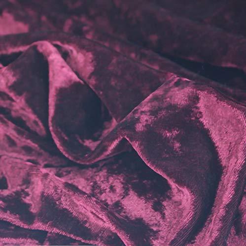 ZXC Tela De Terciopelo 160 cm De Ancho Tela Terciopelo EláStico 1m por Metro Suave para Coser De Chaquetas DecoracióN del Hogar Cortinas TapiceríA(Color:Granate)