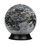 12″Diameter Illuminated National Geographic Moon Globe, Removable Cord, Touch Light Control, Detailed Cartography Made in USA