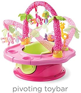 Summer Infant 3-Stage SuperSeat Deluxe Giggles Island: Positioner, Activity Seat, and Booster (GIRLS)