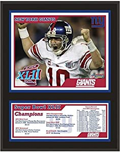 New York Giants Super Bowl XLII Champions Plaque - NFL Team Plaques and Collages
