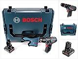 Bosch GSB 12V-15 - Taladro atornillador de impacto (12 V, 1/2 pulgadas, 30 Nm, L-Boxx, 1 batería de...