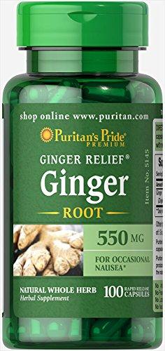 Puritan's Pride Ginger Root 550 mg-100 Capsules