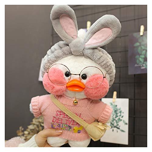 YINGYINGSM 30 cm Lindo Lalafanfan Café Pato Peluche Peluche Relleno Soft Kawaii Doll Doll Almohada Cumpleaños Regalo para Niños Niños Juguetes de Peluche (Color : 1, Height : 30cm High)