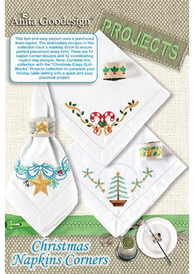 Anita Goodesign ~ Christmas Napkins Corners ~ PROJECTS ~ Embroidery Designs