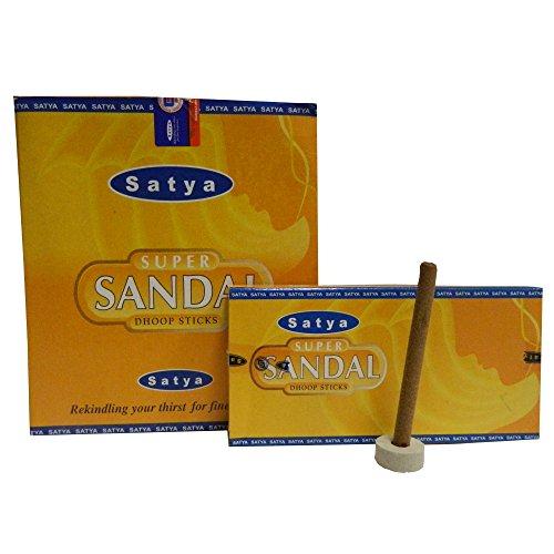 120 Incensi a stick Satya Super Sandal con Portaincenso incenso indiano