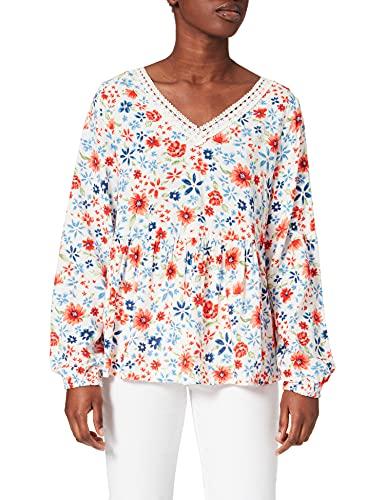 Springfield Blusa Sunrise Laces, Marfil, 38 para Mujer