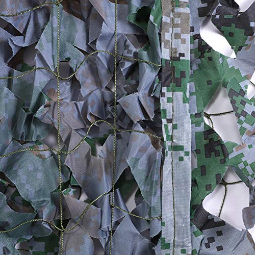 QIANGDA Camouflage Net Camo Netting Shade Sunscreen Net Awnings For Wall Decoration Car Plant Cover, Multiple Sizes (Size : 1.5x2m)