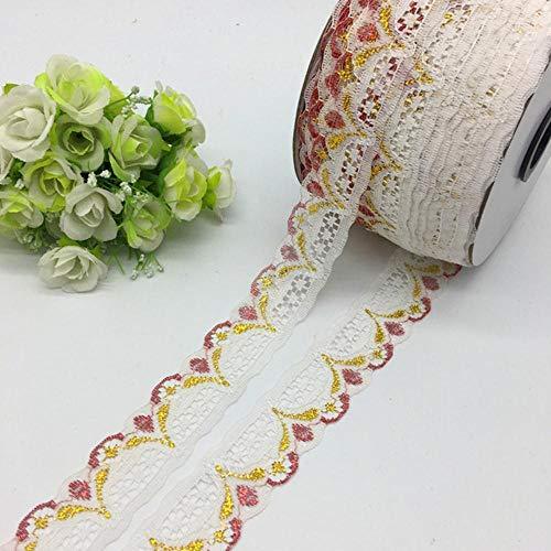 5 meter/stuk 30mm breed glitter geborduurd netto kant trim stof kledingstuk lint hoofdband bruiloft decoratie diy accessoire, 03