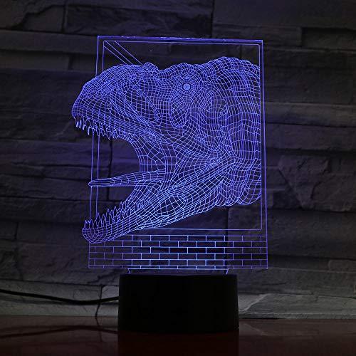 Lámpara de ilusión 3D Luz de noche LED Lámpara de mesa con placa de metacrilato 7 colores Interruptor táctil USB Luminaria Iluminación de la habitación de los niños para niño niña Juguete Cumpleaños
