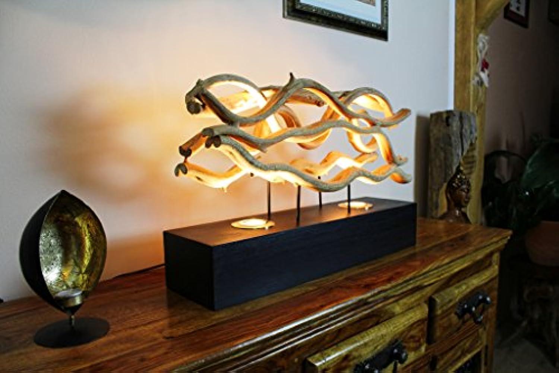 62cm XL Tischlampe aus Lianenholz CHUMPHON von Kinaree
