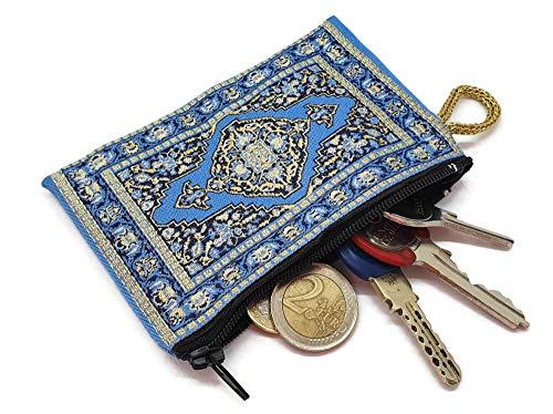 Mystic Jewels Geldbörse für Karten, Schlüssel, Metall, Motiv: Teppich, traditionell, 8 x 11 cm