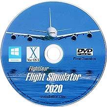 Flight Simulator 2020 X Flight Sim Plane & Helicopter FlightGear Including 500+ Aircraft DVD CD Disc For Microsoft Windows 10 8 7 Vista PC & Mac OS X