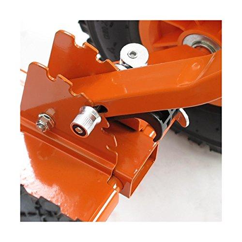 FUXTEC Schneeschaufel Schneeschieber mit Rädern Schneefräse - 5