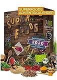 BIO Superfood Adventskalender 2020 I gesund durch die Adventszeit I Superfoods testen I 24 leckere Überraschungen I gesunder Adventskalender I vegan (Superfood)