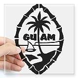 CafePress Guam Seal Square Sticker 3 X 3 Square Bumper Sticker Car Decal, 3'x3' (Small) or 5'x5' (Large)