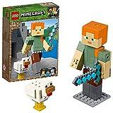 LEGO 21149 Minecraft BigFig: Alex con Gallina (Descontinuado por Fabricante)