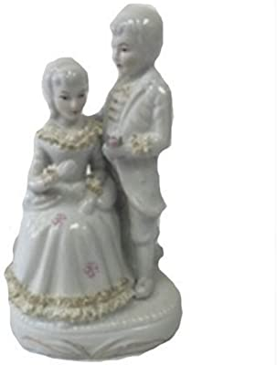 """PMJC Company Boy and Girl Porcelain Statue Sculpture Figurine, 8"""""""