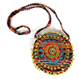 HAB & GUT -IB006A- PRIYA, Indische Damentasche, Umhängetasche, Crossbody Tasche aus 100% Baumwolle,...