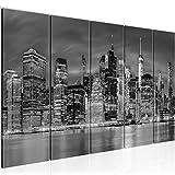 decoración de la pared Tabla Nueva York - 200 x 80 cm Vista de impresión en lienzo Salón Apartamento - listo para colgar - 014055c