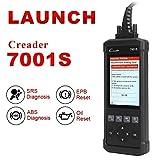 LAUNCH CReader 7001S Escáner de Automóvil Multimarca Diagnosis Auto ABS, SRS (Airbag) con Funciones OBD Completas para Vehículos OBD2 / CAN y Reset Servicio de Aceite y EPB (Cambio Pastillas)