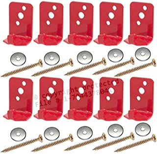 (Lot of 10) Fire Extinguisher Bracket, Wall Hook, Mount, Hanger, Universal for 5 Lb. Extinguishers NO SCREWS or WASHERS