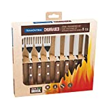 Tramontina Steak Knife Barbecue Set 8 Piece with Wooden Handles