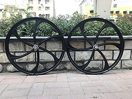 26' Mag Wheel Set F and R 100mm x135mm for Rotary Flywheel 7/8/9s / 26 Inch Magnesium Wheels/Black/Disc Brake - for Beach Cruisers, MTB's, and Gas Powered Bicycles