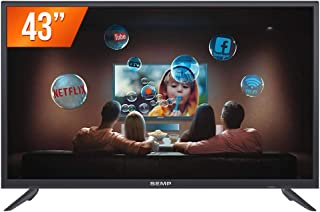 "Smart TV Led 43"" SEMP L43S3900FS - Full HD, Wi-Fi, Receptor DTV e Tecnologia Ginga UNICA"
