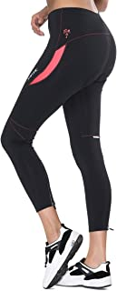 Santic Women's Bike Pants Cycling Tights 4D Padded Bicycle Long Trousers Breathable & Quick Dry