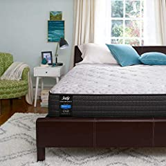 SEALY PLUSH MATTRESS—Feel the Sealy difference in this traditional innerspring mattress, designed for supportive sleep tonight so you can take on tomorrow. LAYERS OF COMFORT—Fabric-encased coils respond to your every move, and additional foam gives d...