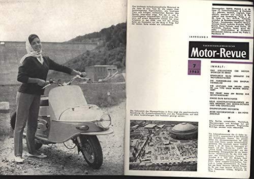 """Motor Revue, tschechoslowakische Zeitschrift;\""""Leistung Motorrad JAWA 250ccm Type 559/02 wurde gesteigert; ,Die Formgebung der Einspurfahrzeuge; Einspritzpumpe Motorpal\"""""""