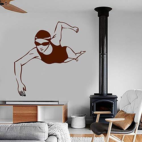 Calcomanía de pared para deportes, natación, Fitness, natación, deportes olímpicos, gimnasio, piscina, decoración moderna para el hogar, calcomanía de vinilo para pared