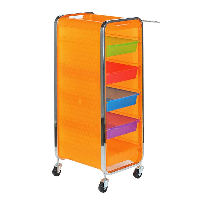 種類ダウンタウン子音サロン美容院トロリー美容美容収納カート6層トレイ多機能引き出し虹色,Orange,B