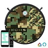 IKOHS netbot S15 - Robot aspirapolvere Professionale 4 in 1, Scopa, Aspira, Passa Il Panno E Lava, Adatto a Pavimenti e Tappeti, Ottimo per i Peli degli Animali Domestici (Netbot S15 / Camo Print)