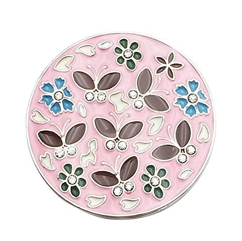 Bolsa de metal con forma de flor, soporte para colgar mesas, pequeños ganchos plegables para bolso o bolso (color: A)